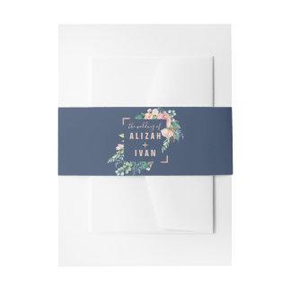 Bandeau De Faire-part La pivoine romantique fleurit le mariage bleu de |