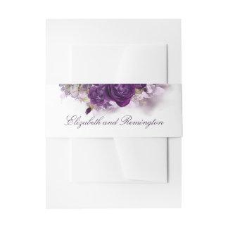 Bandeau De Faire-part Le pourpre d'aubergine fleurit le mariage élégant