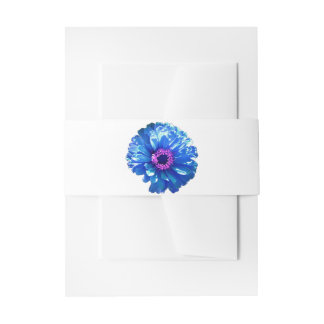 Bandeau De Faire-part Marguerite bleue