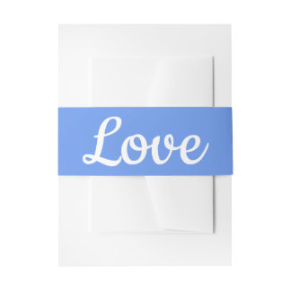 Bandeau De Faire-part Mariage blanc bleu de fleur de laurier de bleuet