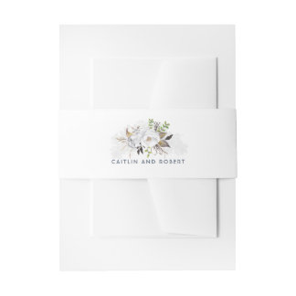 Bandeau De Faire-part Mariage floral blanc