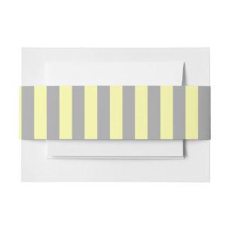 Bandeau De Faire-part Rayures jaunes et grises