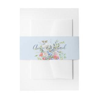 Bandeau De Faire-part Roses de bouquet de fleur d'aquarelle tout papier