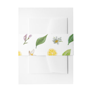 Bandeaux De Faire-part Bandes de ventre d'invitation - impression florale