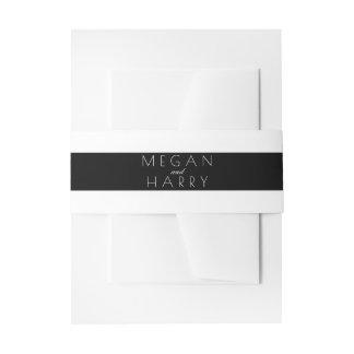 Bandeaux De Faire-part Épouser noir et blanc de rayures
