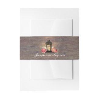 Bandeaux De Faire-part Mariage en bois rustique de grange de lanterne