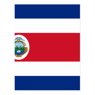 Bandera De Costa Rica - drapeau du Costa Rica Cartes Postales