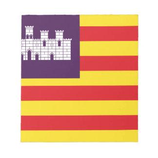 Bandera Islas Baléares - drapeau Îles Baléares Blocs Notes