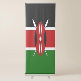 Banderole Rétractable Drapeau du Kenya