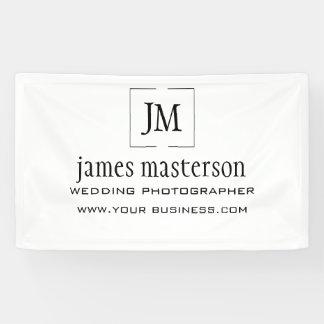 Banderoles Ajoutez votre professionnel minimaliste de