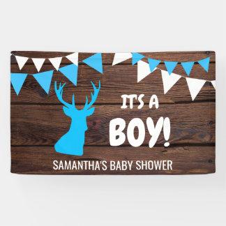 Banderoles C'est UN GARÇON ! Baby shower rustique fait sur