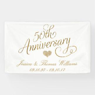 Banderoles cinquantième Anniversaire de mariage d'or