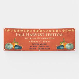 Banderoles Citrouille de l'événement Fall Harvest Festival