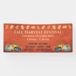 Banderoles Citrouille du festival des récoltes d'automne