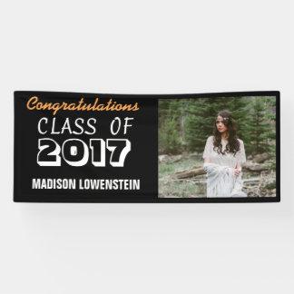 Banderoles Classe de photo audacieuse de diplômé du noir 2017