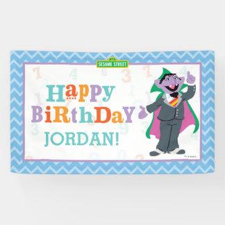 Banderoles Compte von Count Birthday du Sesame Street |