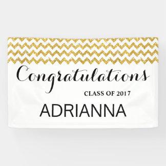 Banderoles Diplômé de félicitations de Chevron de