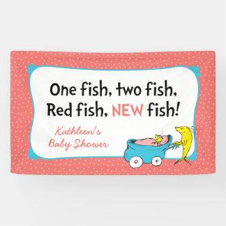 Banderoles Dr. Seuss | un poisson - baby shower de fille