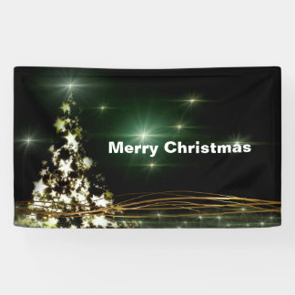 Banderoles Étoiles sur le ciel nocturne 3' d'arbre de Noël x
