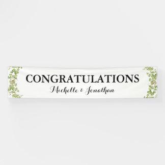 Banderoles Félicitations botaniques de lierre de verdure