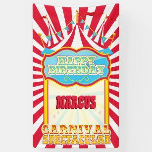 Banderoles Fête d'anniversaire de carnaval