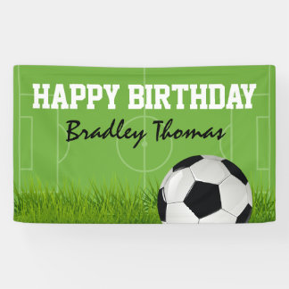 Banderoles Fête d'anniversaire du football du football