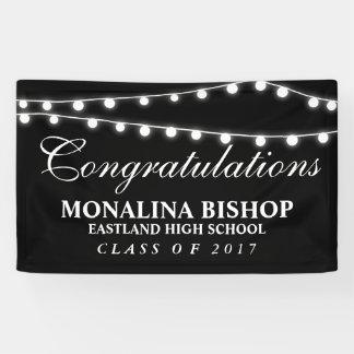 Banderoles Ficelle de diplômé de félicitations de lumières