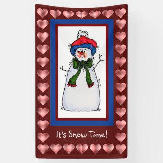 Banderoles Il est temps de neige
