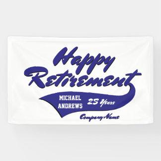 Banderoles La partie de retraite personnalisent