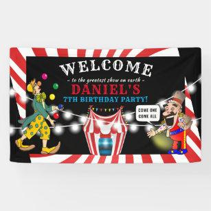 Banderoles Le Cirque du divertissement pour enfants  Annivers