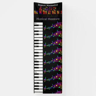 Banderoles Le piano élèvent le diagramme