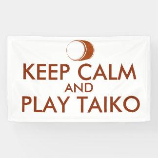 Banderoles Les cadeaux de Taiko gardent la coutume de tambour