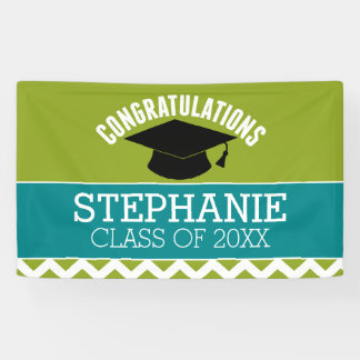Banderoles Les félicitations reçoivent un diplôme -
