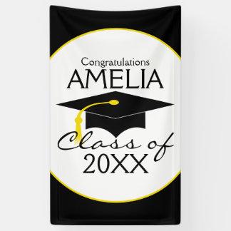 Banderoles Les félicitations reçoivent un diplôme le nom fait