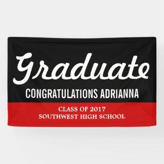 Banderoles Rouge audacieux licencié de noir de félicitations