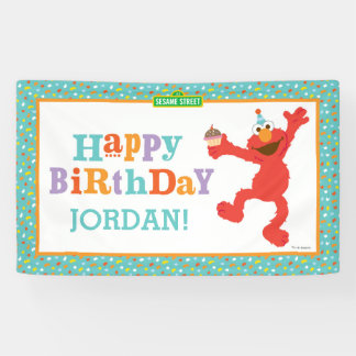 Banderoles Sesame Street | Elmo - anniversaire de petit