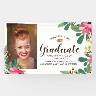 Banderoles Signe floral d'obtention du diplôme de photo faite