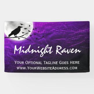 Banderoles Silhouette noire de Raven de corneille sur