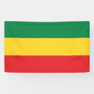 Banderoles Vert, or (jaune) et drapeau de couleurs rouges