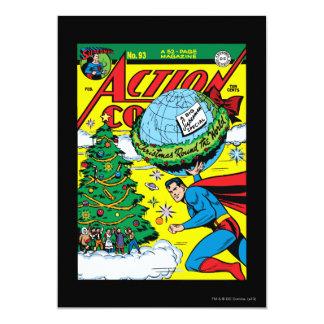 Bandes dessinées d'action #93 carton d'invitation  12,7 cm x 17,78 cm