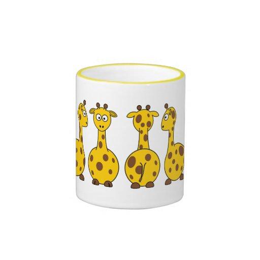 Bandes dessinées de girafes tasse