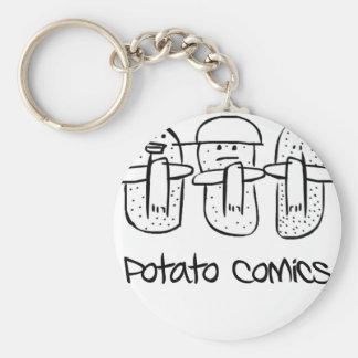 Bandes dessinées de pomme de terre porte-clés
