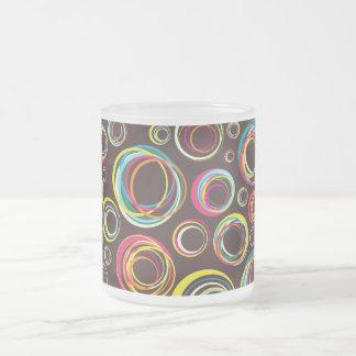bandes élastiques mug en verre givré