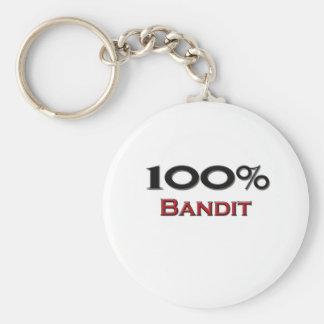 Bandit de 100 pour cent porte-clé rond