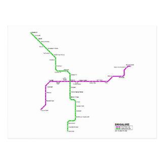 Bangalore métro carte postale