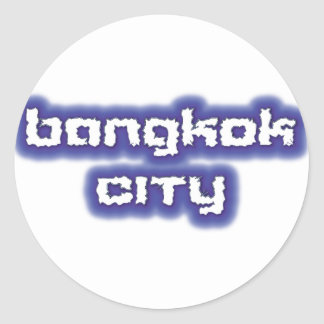 BANGKOK CITY STICKER ROND