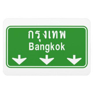 Bangkok en avant observent ! ⚠ de poteau de magnets rectangulaires