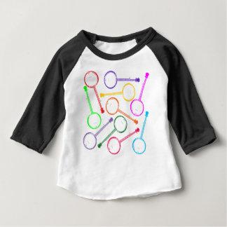 banjo d'arc-en-ciel t-shirt pour bébé