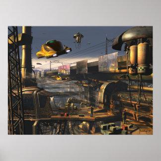 Banlieues 2100 - future copie de ville affiches