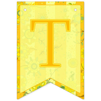 Bannière À Fanions C'est des jumeaux ! L'éléphant fleurit le machaon